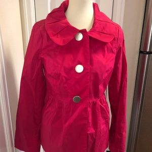 New AGB Hot Pink Light Weight Jacket Sz 10